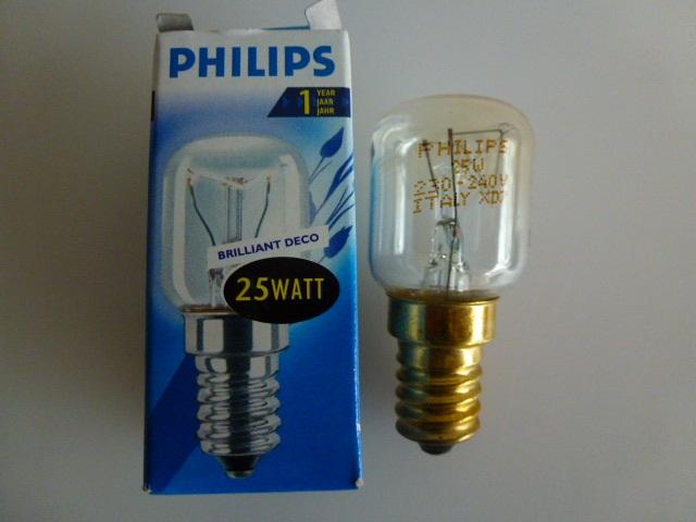 Kühlschrank Lampe 15w : Philips sunlux backofen kühlschrank lampe glühbirne e14 t17 t25 m 5w